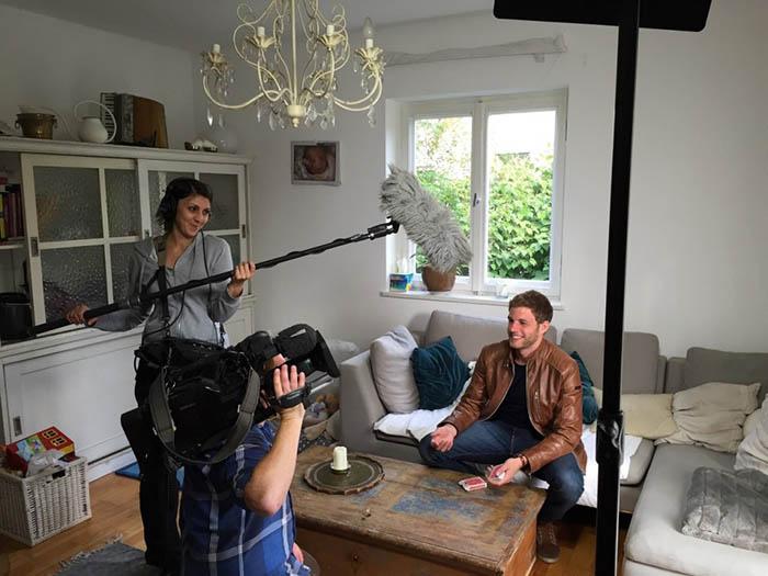 Fernsehshow Aufnahme mit Claudio Gnann